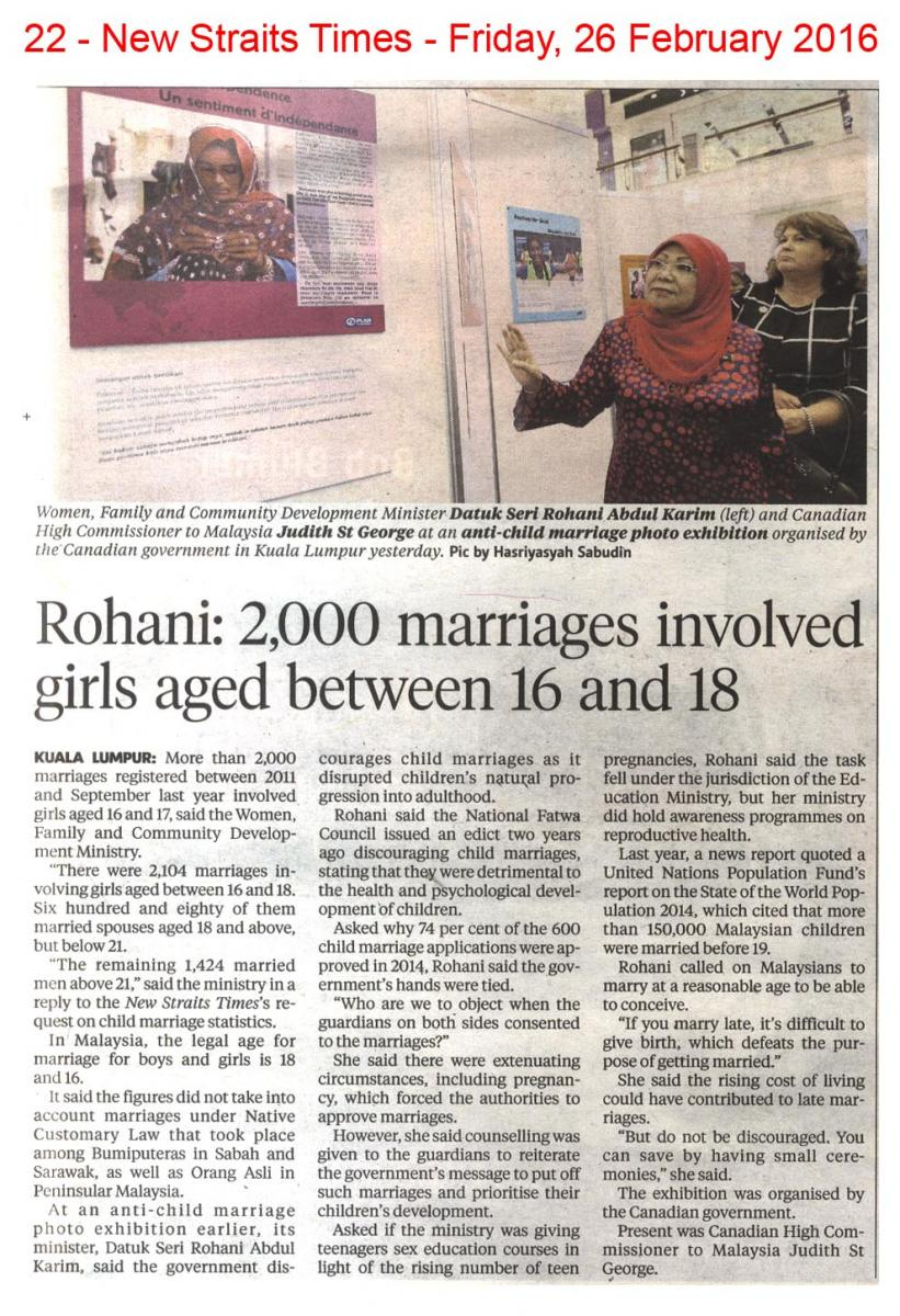 NST26_2_16 Rohani - 2,000 marriages involved girls aged between 16 and  18 jpg